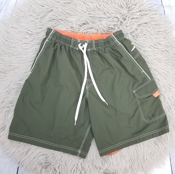c17bcfb2a4 Speedo Swim | Men Olive Green Trunk Board Shorts L | Poshmark